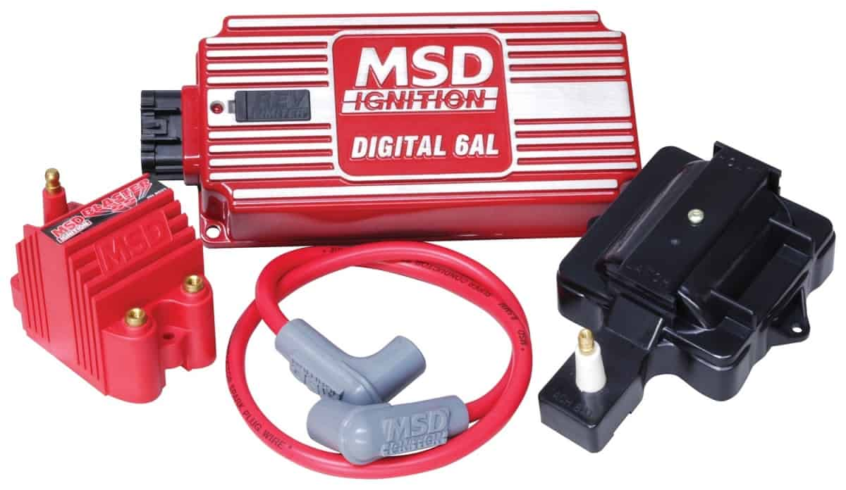 Msd Super Hei Kit With Digital 6al  Blaster Ss Coil  Hei Adapter And 8 5mm Coil Wire