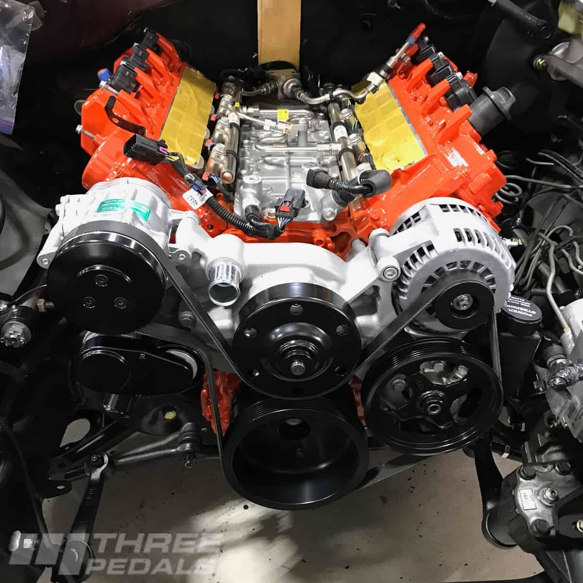 Retrofitting The Gen V Lt1 Engine Three Pedals 1965 Impala Wiring Harness